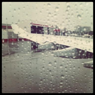 Rainy goodbyes.